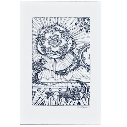 Picture of Blue Sunrays Art Print