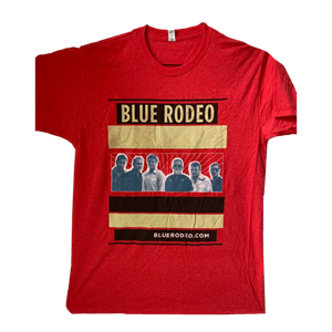 Picture of BlueRodeo.com Band Shot T-shirt [Red]